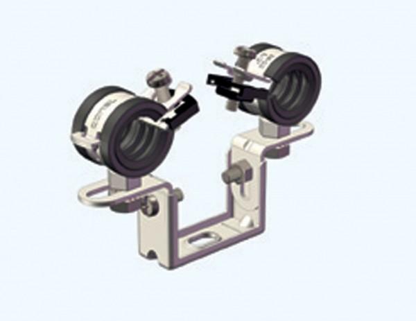 Doppelrohrschelle CLIC 15mm CONEL 12-15mm Stahl/Metall/Abfl.rohr