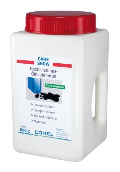 CARE Hochleistungs-Ölbindemittel SNOW 600 g Schüttbehälter CONEL