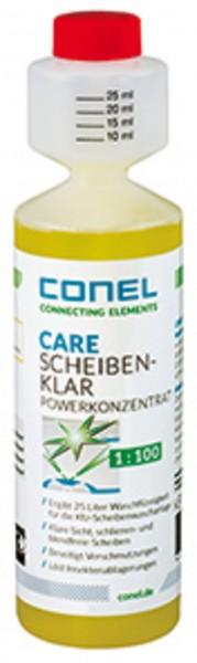 CARE Auto-Scheibenklar Konzentrat 250ml Dosierflasche 1:100 mit Citrusduft CONEL