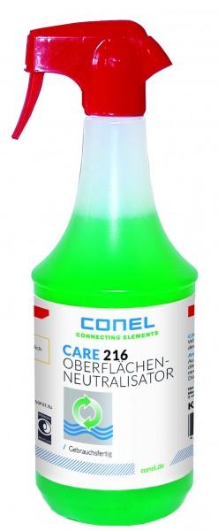 CARE 216 Oberflächenneutralisator 1L Fl. Nach saurer Reinigung f.Gasbrennwertger.
