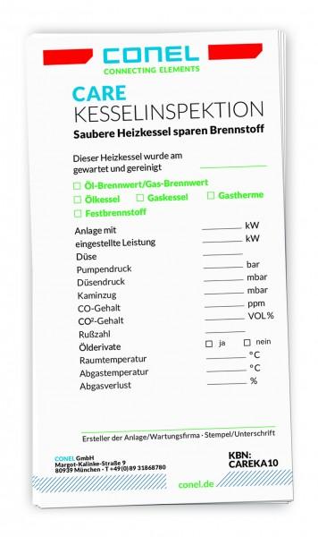 CARE Kessel-Inspektions-Aufkleber 10 Stk für den Eintrag von Messdaten CONEL