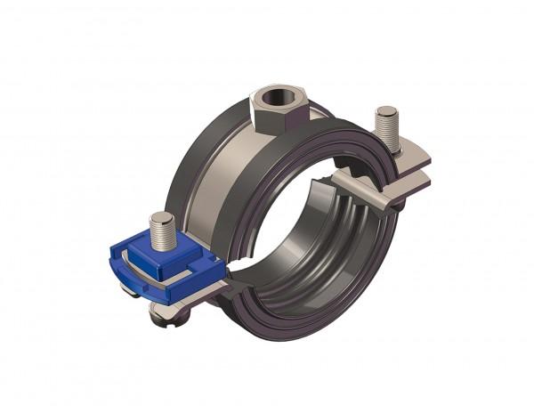 Rohrschelle CLIC Edelstahl V4A 11-14mm M 8 CONEL mit Einlage für DIN 4109