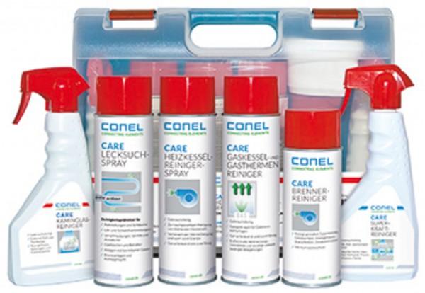 CARE Heizkessel-Reinigungs-Service-Box gefüllt mit 8 Produkten CONEL