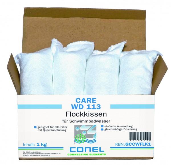 CARE WD 113 Clearwater Flockkissen 1 kg Paket Dosierpack (8 x 125g) CONEL