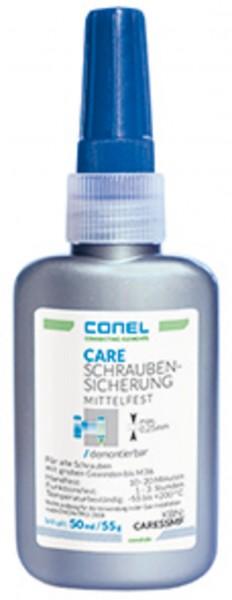 CARE Schraubensicherung m.fest 50ml Quetschspritzflasche DVGW b.80 bar CONEL