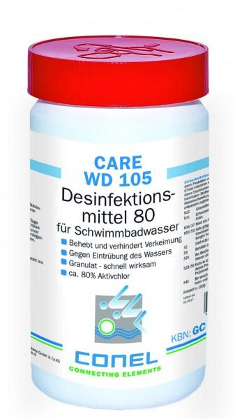 CARE WD 105 Clearwater 80 Aktivchlor 1kg Dose Desinfektionsmittel-Granulat CONEL