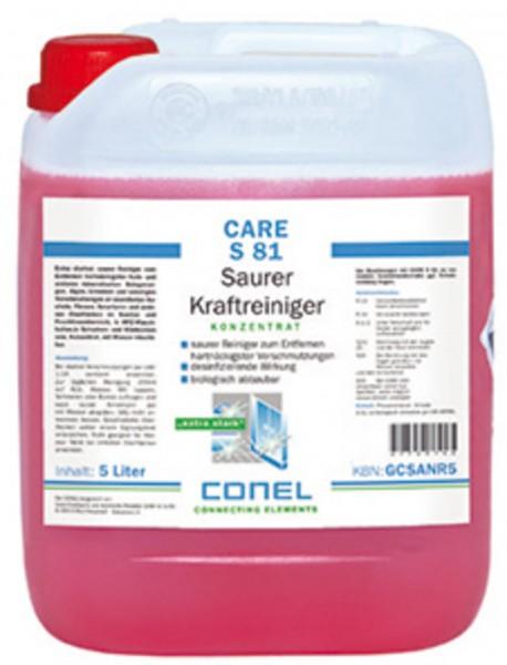 CARE Saurer Kraftreiniger 5 Liter Kanister Konzentrat Extra Stark CONEL