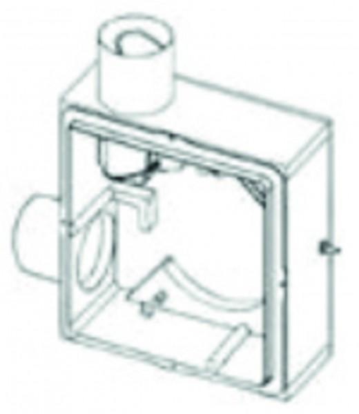 Zweitraum UP-Gehäuse COSMO EL Ausblas seitlich, m.Brandschutz, m.Montagehalter