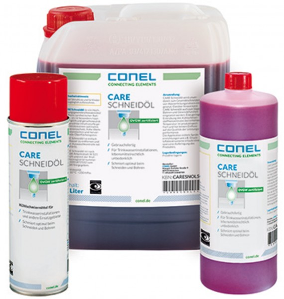 CARE Schneidöl DVGW-geprüft 250ml Quetsch-Spritzflasche CONEL