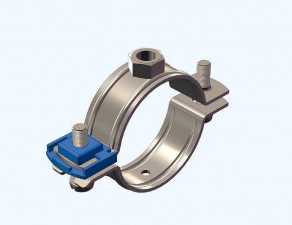 Rohrschelle CLIC Edelstahl V4A 15-18mm M 8 CONEL ohne Einlage für DIN 4109