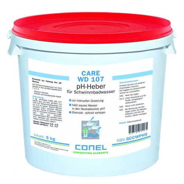 CARE WD 107 Clearwater pH-Heber 5 kg Eimer Granulat schnell löslich CONEL